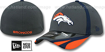 Broncos '2014 NFL TRAINING FLEX' Graphite Hat by New Era