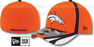 Broncos 2014 NFL TRAINING FLEX Orange Hat by New Era