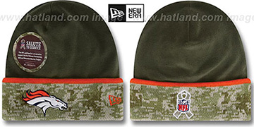 Broncos '2014 SALUTE-TO-SERVICE' Knit Beanie Hat by New Era
