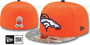 Broncos 2014 SALUTE-TO-SERVICE Orange-Desert Fitted Hat by New Era