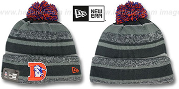 Broncos '2014 THROWBACK STADIUM' Grey-Grey Knit Beanie Hat by New Era