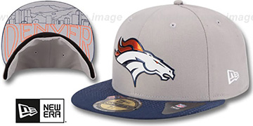 Broncos '2015 NFL DRAFT' Grey-Navy Fitted Hat by New Era