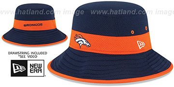 Broncos '2015 NFL TRAINING BUCKET' Navy Hat by New Era