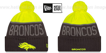 Broncos '2015 STADIUM' Charcoal-Yellow Knit Beanie Hat by New Era