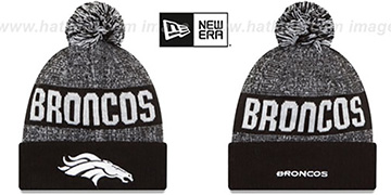 Broncos '2016 STADIUM' Black-White Knit Beanie Hat by New Era