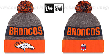 Broncos 2016 STADIUM Orange-Navy-Grey Knit Beanie Hat by New Era