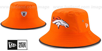 Broncos 2017 NFL TRAINING BUCKET Orange Hat by New Era