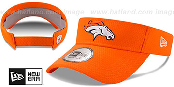 Broncos 2017 NFL TRAINING VISOR Orange by New Era