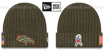 Broncos '2017 SALUTE-TO-SERVICE' Knit Beanie Hat by New Era