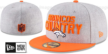 Broncos '2018 ONSTAGE' Grey-Orange Fitted Hat by New Era