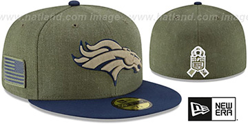 Broncos 2018 SALUTE-TO-SERVICE Olive-Navy Fitted Hat by New Era