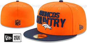 Broncos 2018 SPOTLIGHT Orange-Navy Fitted Hat by New Era