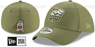 Broncos 2019 SALUTE-TO-SERVICE FLEX Olive Hat by New Era