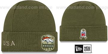 Broncos 2019 SALUTE-TO-SERVICE Knit Beanie Hat by New Era