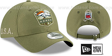 Broncos 2019 SALUTE-TO-SERVICE STRAPBACK Olive Hat by New Era