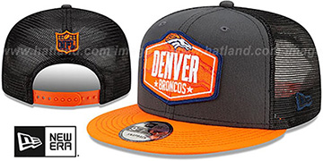Broncos 2021 NFL TRUCKER DRAFT SNAPBACK Hat by New Era