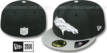 Broncos 2T-HEATHER ACTION Charcoal-Grey Fitted Hat by New Era