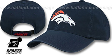 Broncos 'BASIC POLO' Strapback Navy Hat by Sports Specialties