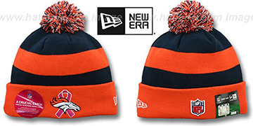 Broncos BCA CRUCIAL CATCH Knit Beanie Hat by New Era