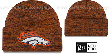 Broncos 'BEVEL' Orange-Navy Knit Beanie Hat by New Era
