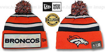 Broncos 'BIG-SCREEN' Knit Beanie Hat by New Era