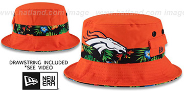 Broncos BLOOM SUB-BANDED Orange Bucket Hat by New Era