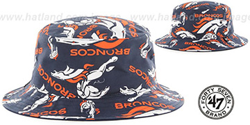 Broncos 'BRAVADO BUCKET' Hat by Twins 47 Brand