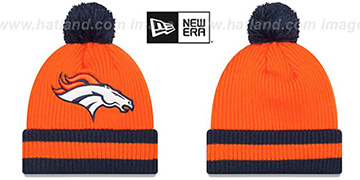 Broncos 'CHILLER FILLER BEANIE' Orange-Navy by New Era