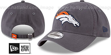 Broncos CORE-CLASSIC STRAPBACK Charcoal Hat by New Era