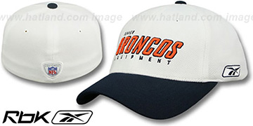 Broncos 'EQUIPMENT-FLEX' White-Navy Hat by Reebok