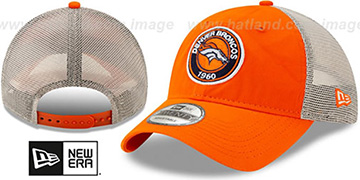 Broncos ESTABLISHED CIRCLE TRUCKER SNAPBACK Hat by New Era