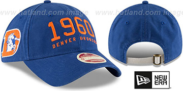 Broncos 'ESTABLISHED YEAR STRAPBACK' Royal Hat by New Era