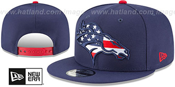 Broncos 'FLAG FILL INSIDER SNAPBACK' Navy Hat by New Era