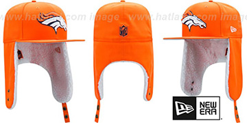 Broncos 'FLURRY-FIT DOGEAR' Orange Fitted Hat by New Era