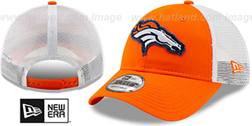 Broncos FRAYED LOGO TRUCKER SNAPBACK Hat by New Era