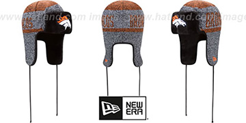 Broncos 'FROSTWORK TRAPPER' Orange Knit Hat by New Era