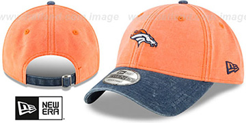Broncos 'GW RUGGED CANVAS STRAPBACK' Orange-Navy Hat by New Era