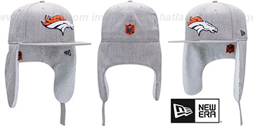 Broncos HEATHER-DOGEAR Light Grey Fitted Hat by New Era