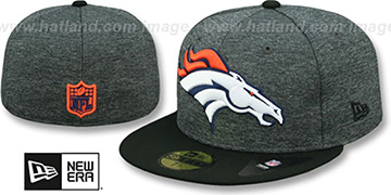Broncos 'HEATHER-HUGE' Grey-Black Fitted Hat by New Era