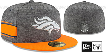 Broncos HOME ONFIELD STADIUM Charcoal-Orange Fitted Hat by New Era