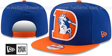 Broncos 'LOGO GRAND REDUX TB SNAPBACK' Royal-Orange Hat by New Era