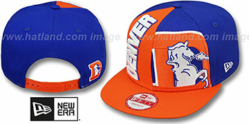 Broncos 'NE-NC THROWBACK DOUBLE COVERAGE SNAPBACK' Hat by New Era