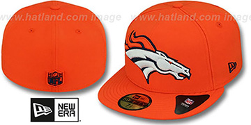 Broncos NFL 'MIGHTY-XL' Orange Fitted Hat by New Era