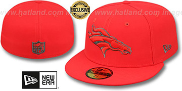 Broncos NFL TEAM-BASIC Fire Red-Charcoal Fitted Hat by New Era