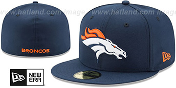 Broncos NFL TEAM-BASIC Navy Fitted Hat by New Era