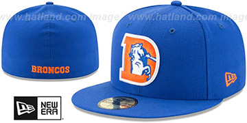 Broncos NFL THROWBACK TEAM-BASIC Royal Fitted Hat by New Era