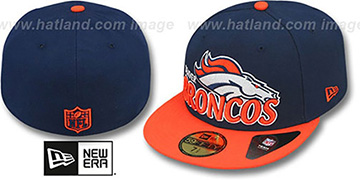 Broncos NFL-TIGHT Navy-Orange Fitted Hat by New Era