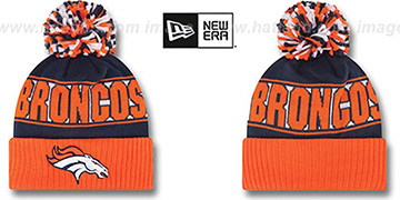 Broncos 'REP-UR-TEAM' Knit Beanie Hat by New Era