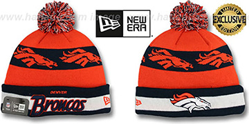 Broncos REPEATER SCRIPT Knit Beanie Hat by New Era