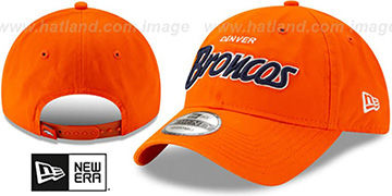 Broncos RETRO-SCRIPT SNAPBACK Orange Hat by New Era